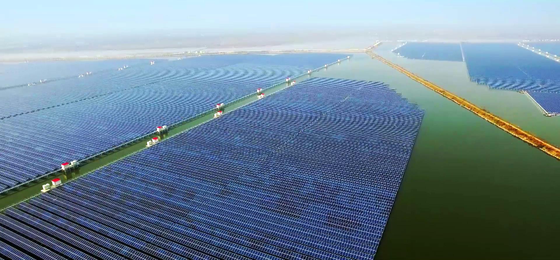 浙江慈溪200MW水面桩体光伏电站项目